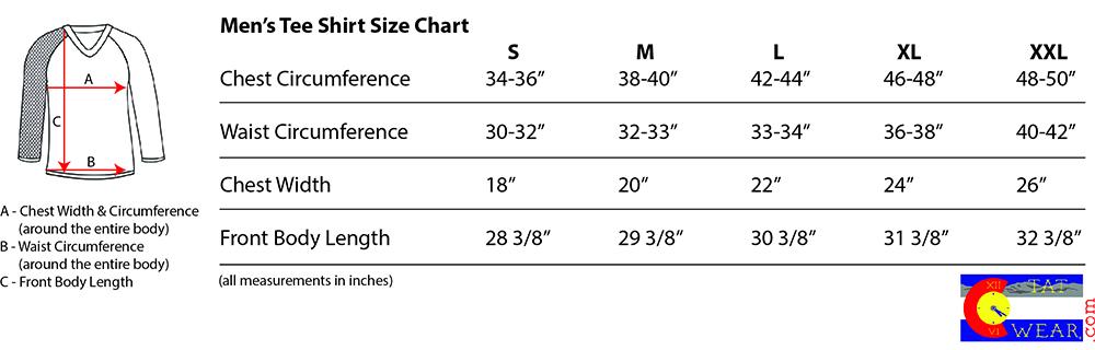 420 TatWear Size Chart - Men